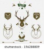 hunting labels set | Shutterstock .eps vector #156288809