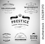 vintage logos and labels... | Shutterstock .eps vector #156289193