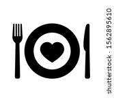 charity food icon on white...