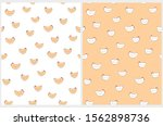 cute easter seamless vector... | Shutterstock .eps vector #1562898736