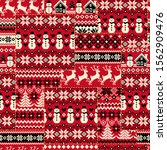 the traditional nordic pattern...   Shutterstock .eps vector #1562909476