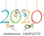 men and women in the 2020... | Shutterstock .eps vector #1562912773