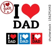 i love dad sign and labels on... | Shutterstock .eps vector #156291443