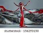 emotional portrait of fashion... | Shutterstock . vector #156293150