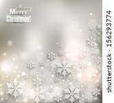 elegant christmas background... | Shutterstock .eps vector #156293774