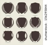 shield and laurel wreath | Shutterstock .eps vector #156295844