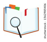 open book vector icon.cartoon...