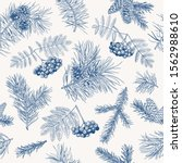 winter seamless pattern with...   Shutterstock .eps vector #1562988610