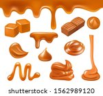 caramel realistic. candy sweets ... | Shutterstock .eps vector #1562989120
