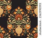 tradition mughal motif  fantasy ... | Shutterstock .eps vector #1562990593