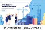 building construction landing.... | Shutterstock .eps vector #1562999656