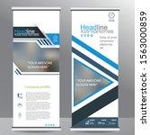 blue roll up business brochure... | Shutterstock .eps vector #1563000859
