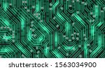 green electric circuit map ... | Shutterstock .eps vector #1563034900
