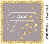 leaves frame  border  with... | Shutterstock . vector #156307316
