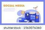 social media concept. internet... | Shutterstock .eps vector #1563076360