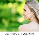 closeup portrait of beautiful... | Shutterstock . vector #156307826