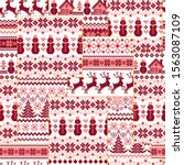 the traditional nordic pattern... | Shutterstock .eps vector #1563087109