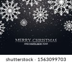 christmas background with... | Shutterstock .eps vector #1563099703