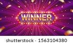 winner. retro winner... | Shutterstock .eps vector #1563104380