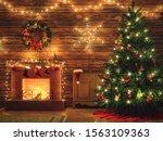 3d Rendering Christmas Interior ...