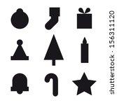 christmas icons | Shutterstock .eps vector #156311120