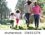 family having picnic in... | Shutterstock . vector #156311276