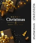 christmas background. xmas... | Shutterstock .eps vector #1563153256