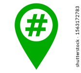 hashtag and location pin on... | Shutterstock .eps vector #1563172783