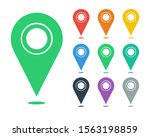 set of map location pin vector... | Shutterstock .eps vector #1563198859