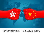 relationship between china and... | Shutterstock .eps vector #1563214399