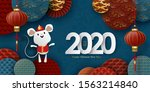 2020 chinese new year banner.... | Shutterstock .eps vector #1563214840