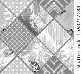 Seamless Abstract Pattern. Gray ...