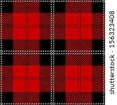 Red Scottish Seamless Tartan Plaid
