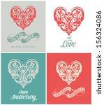 wedding invitation card.... | Shutterstock .eps vector #156324086