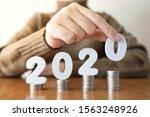 2020 new year saving money and... | Shutterstock . vector #1563248926