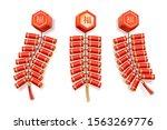 chinese firecrackers  vector... | Shutterstock .eps vector #1563269776