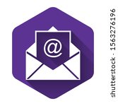White Mail And E Mail Icon...