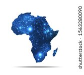 vector map of africa with... | Shutterstock .eps vector #1563280090