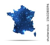 vector map of france with... | Shutterstock .eps vector #1563280096