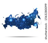 vector map of russia with... | Shutterstock .eps vector #1563280099