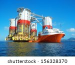 heavy lift cargo ship... | Shutterstock . vector #156328370