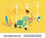sustainable energy development  ...   Shutterstock .eps vector #1563301060