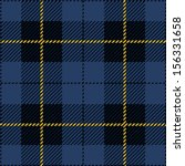 Blue Seamless Tartan Plaid Design