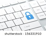 privacy concept  enter button... | Shutterstock . vector #156331910