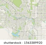 vector map of the city of... | Shutterstock .eps vector #1563389920