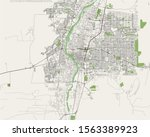 vector map of the city of... | Shutterstock .eps vector #1563389923