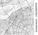 vector map of the city of... | Shutterstock .eps vector #1563389959