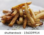 golden crispy french fries with ... | Shutterstock . vector #156339914