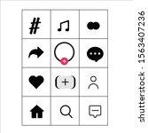 social media templates buttons  ...