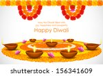 illustration of decorated... | Shutterstock .eps vector #156341609
